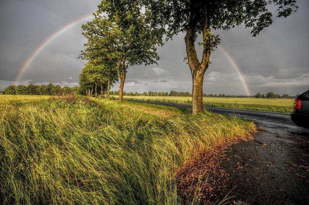 Regenbogen eingefangen.....