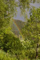 Regenbogen eingerahmt
