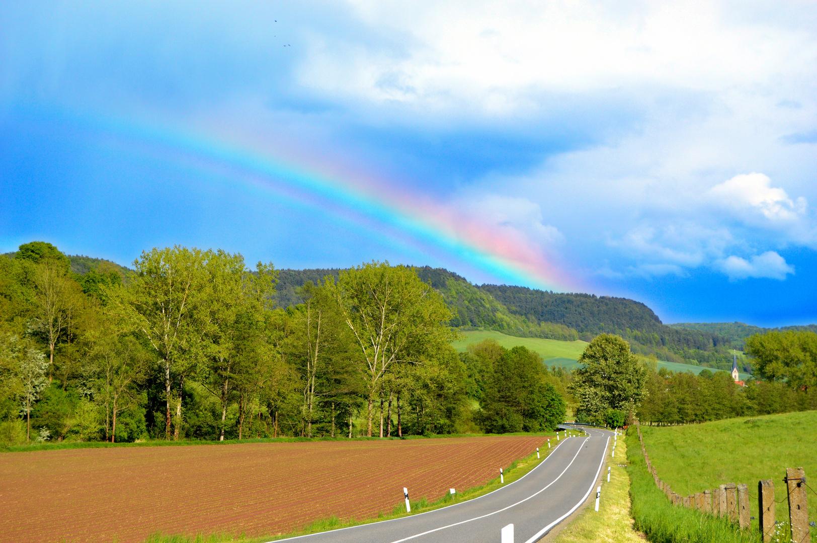 Regenbogen im Eichsfelder Land