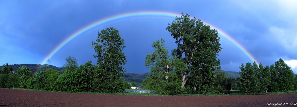 Regenbogen im Mai