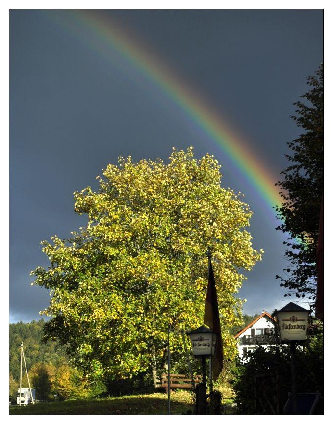 Regenbogen in Blumberg bei Donaueschingen 09.2011