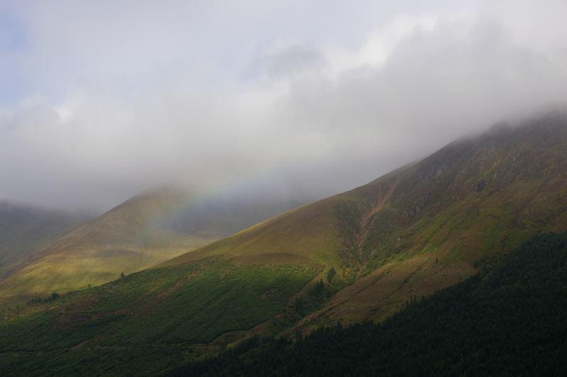 Regenbogen in den Highlands