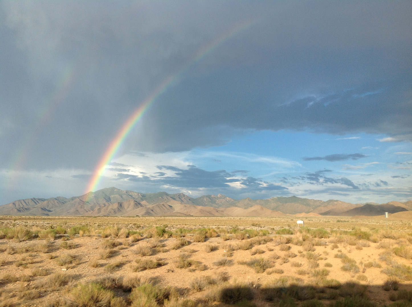 Regenbogen in Nevada