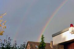 Regenbogen linke Seite hinter meinem Haus am 19.11.2017