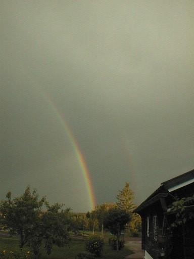 Regenbogen nach Gewitter (Rättvik /Mittelschweden)
