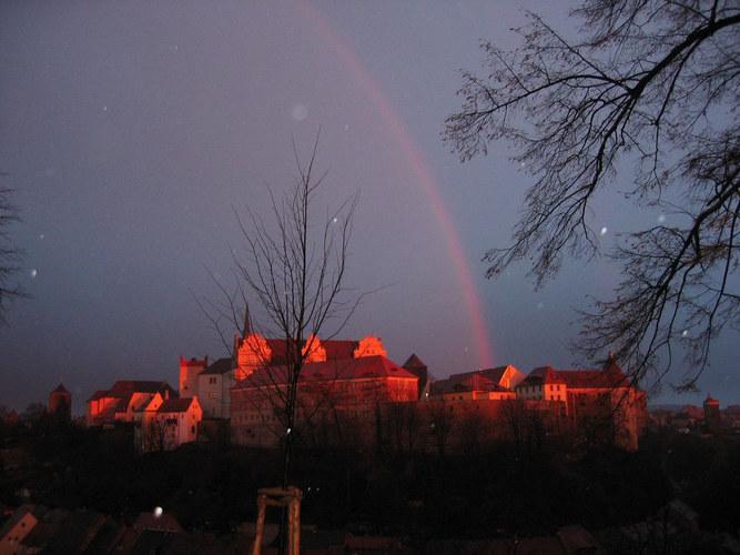 Regenbogen über Bautzen