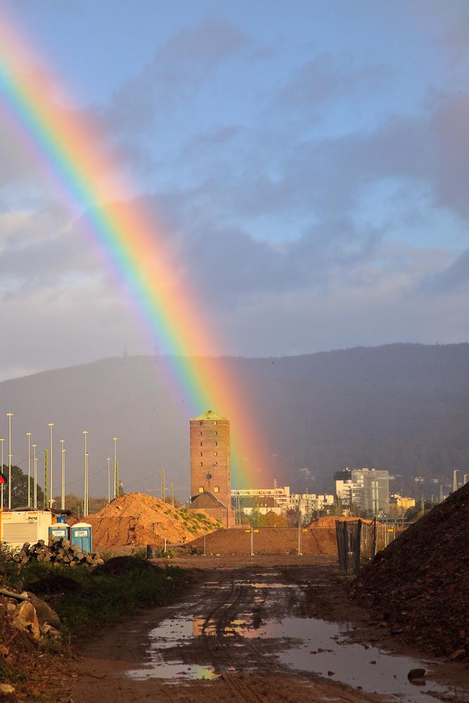 Regenbogen über der Bahnstadt 2