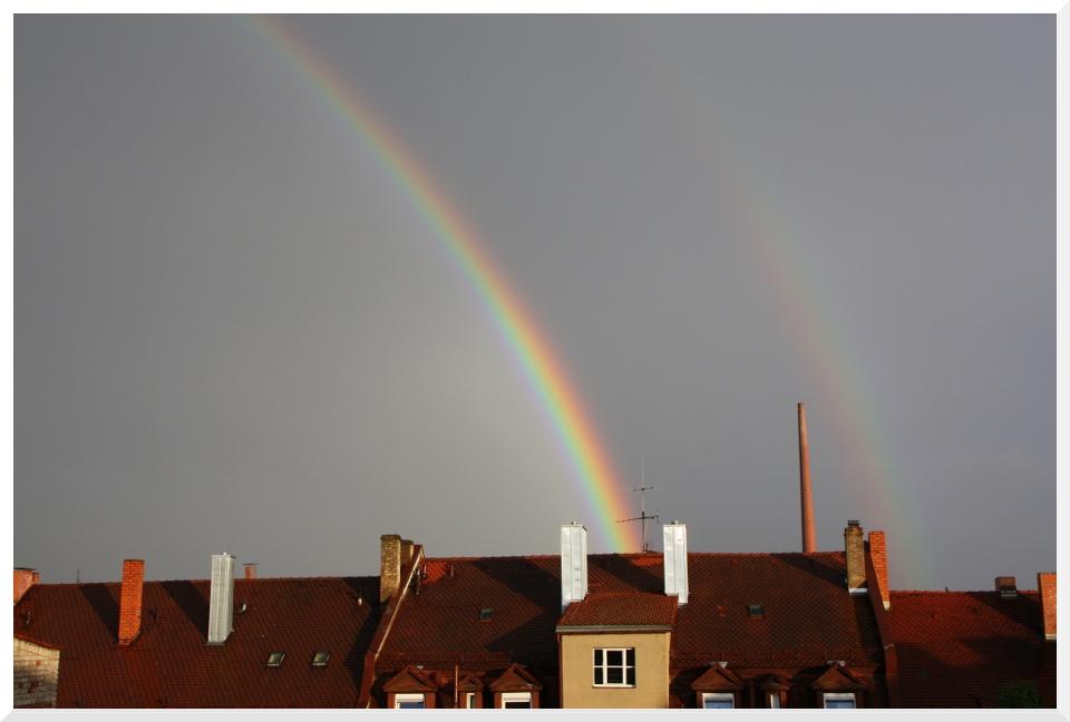 Regenbogen über der Nürnberger Südstadt
