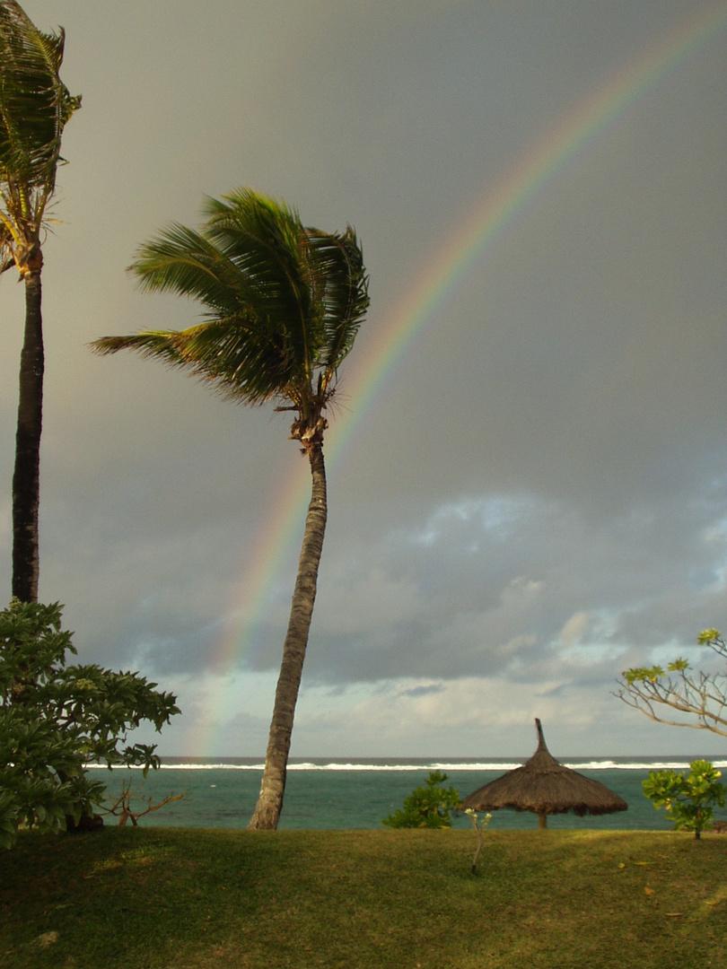 Regenbogen über Mauritius