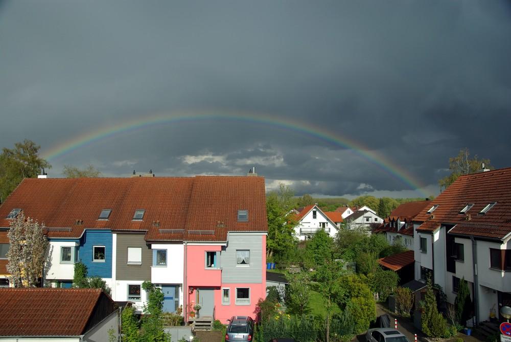 Regenbogen über Moosburg