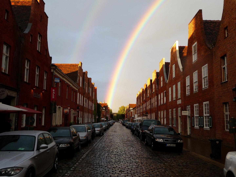 Regenbogen über Potsdam