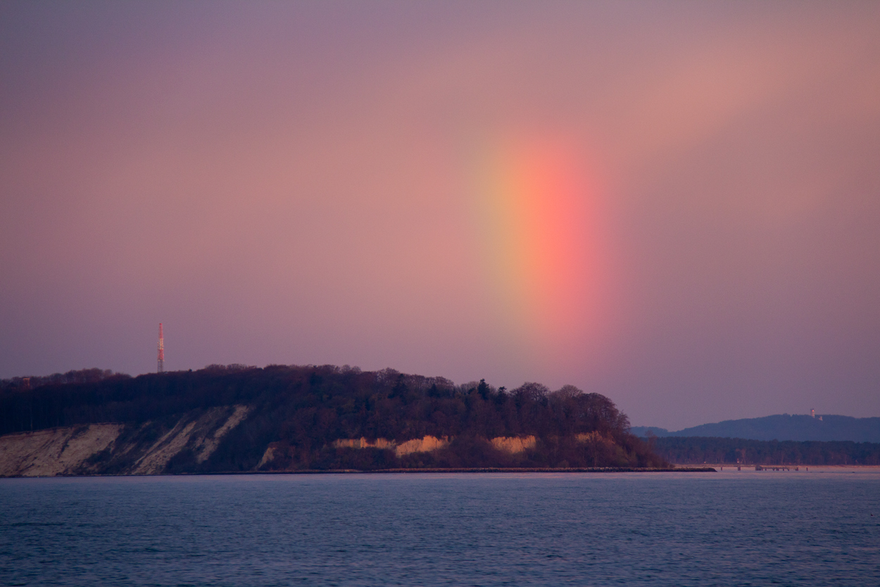 Regenbogen über Rügen