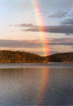 Regenbogen über Västra Silen (3) (Dalsland, Schweden)