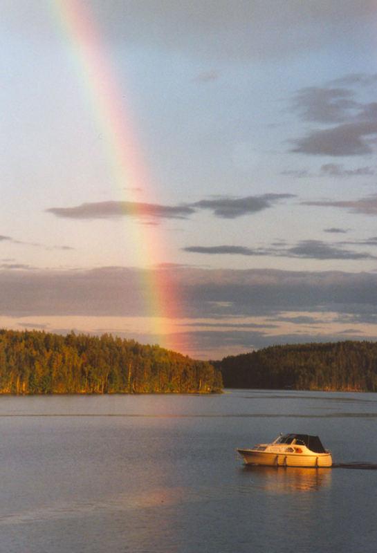 Regenbogen über Västra Silen (4) (Dalsland, Schweden)