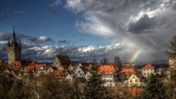 Regenbogen über Wimpfen