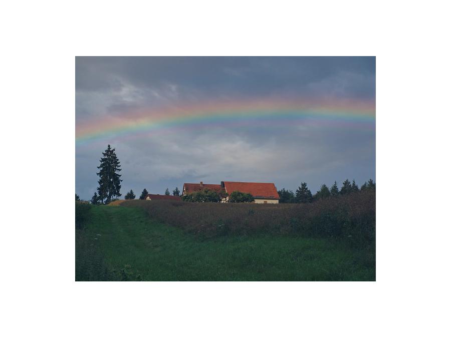 Regenbogen überm Klaushof