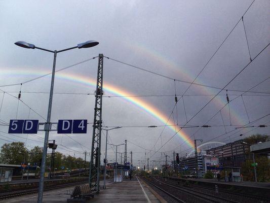 Regenbogen und Lanxessbogen