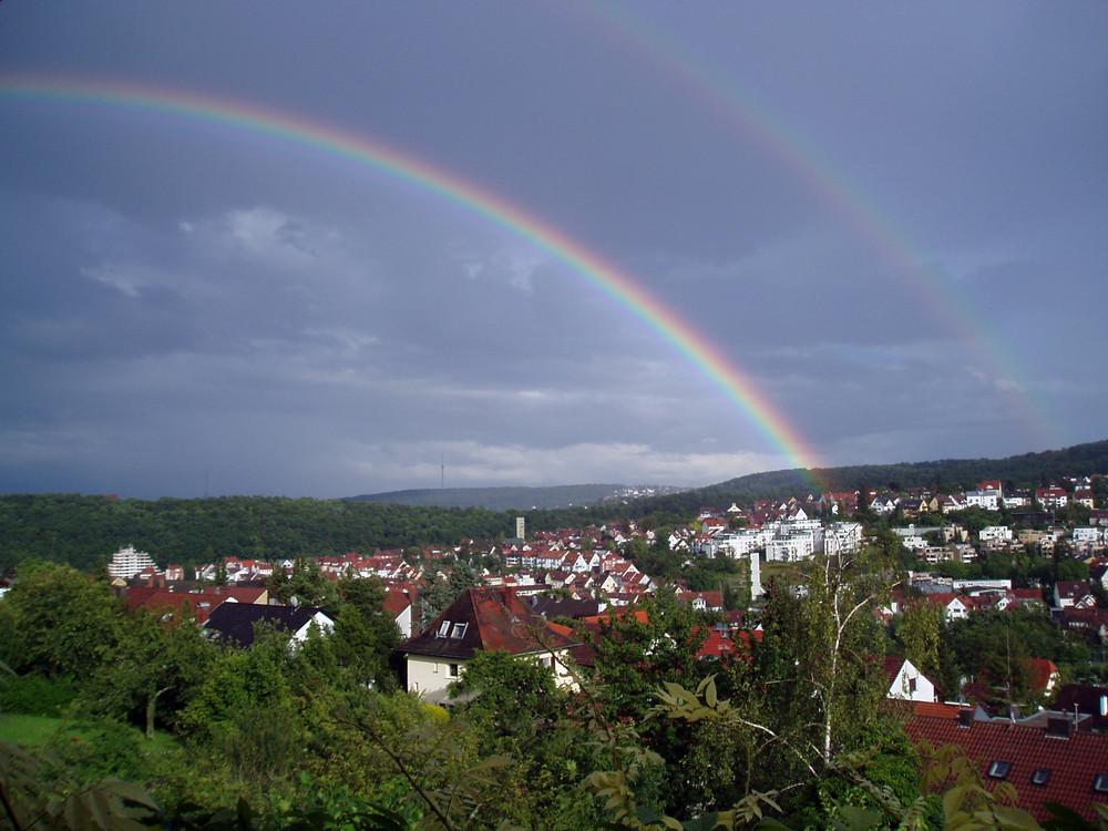 Regenbogen und Nebenregenbogen