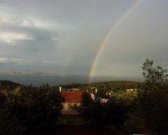 Regenbogen vor der Haustür
