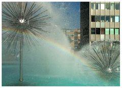 Regenbogen vor der Johann Wolfgang von Goethe Universität