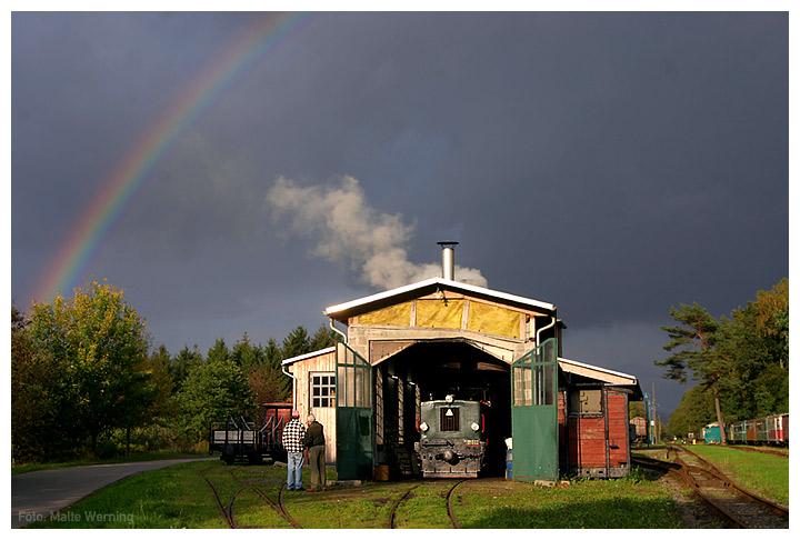 Regenbogen zum Feierabend