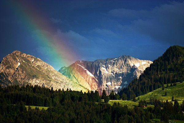 Regenbogen zur Hochzeit