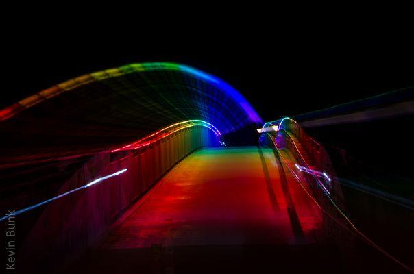 Regenbogenbrücke über A40 Dortmund