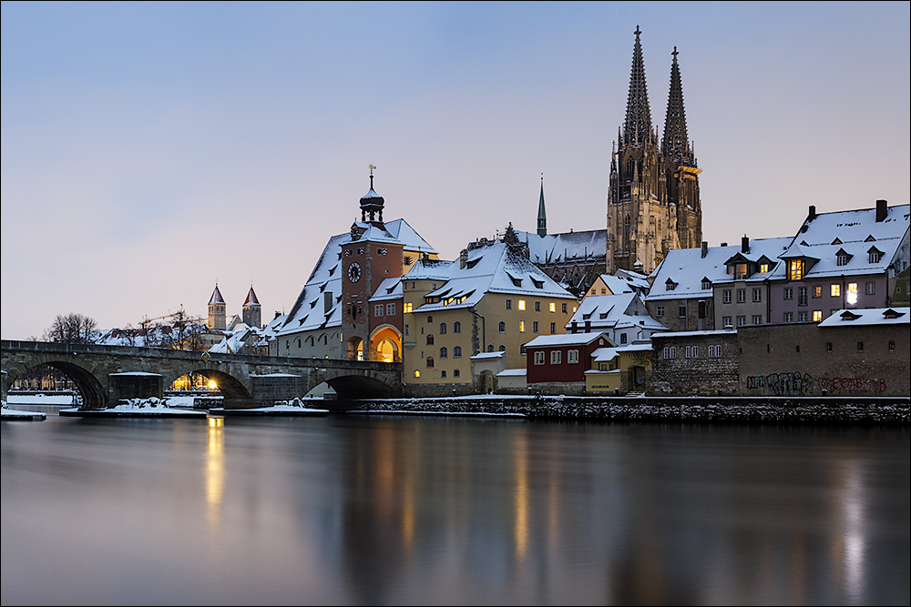regensburg im winter foto bild deutschland europe bayern bilder auf fotocommunity. Black Bedroom Furniture Sets. Home Design Ideas