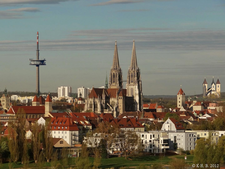 Regensburg in der Morgensonne