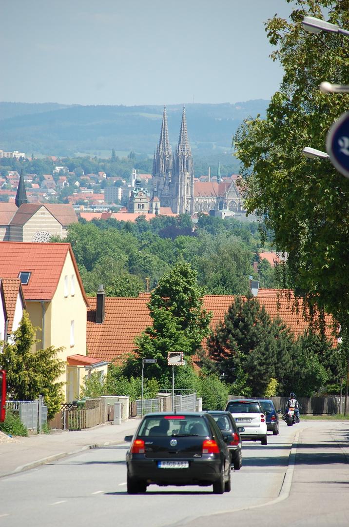 Regensburg von Kumpfmühl aus gesehen.