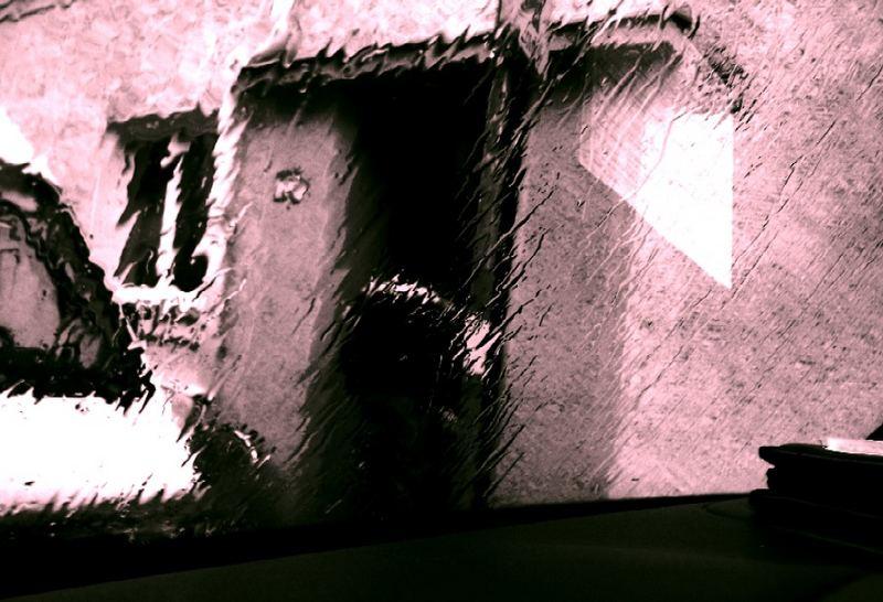 Regentag durch die Seitenscheibe eines Johanniter-Autos 1