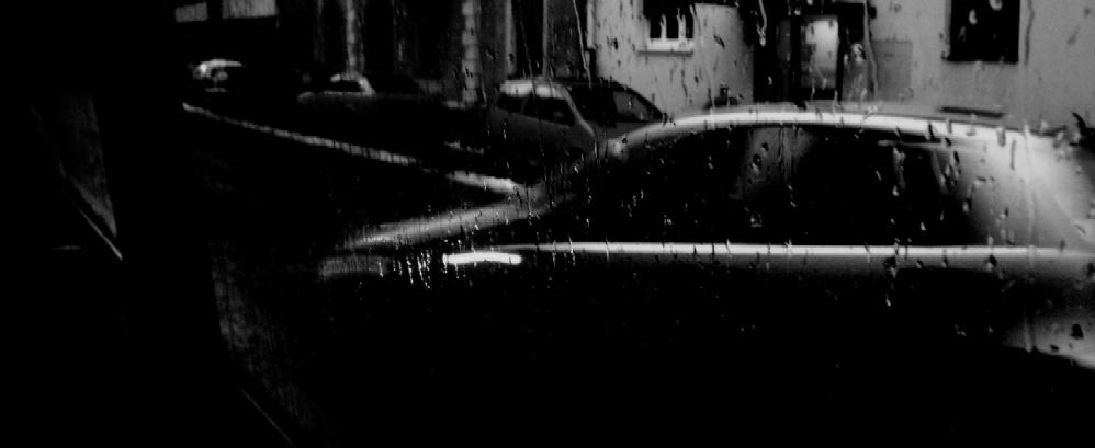 Regentag durch die Seitenscheibe eines Johanniter-Autos 4