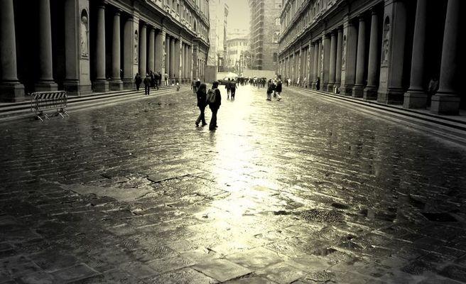Regentag in Florenz 2