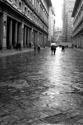 Regentag in Florenz