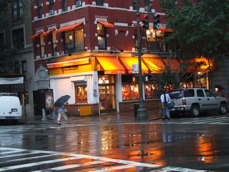 Regentag in Upper West, NYC