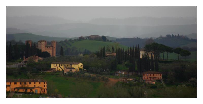 Regenwetter in der Toskana
