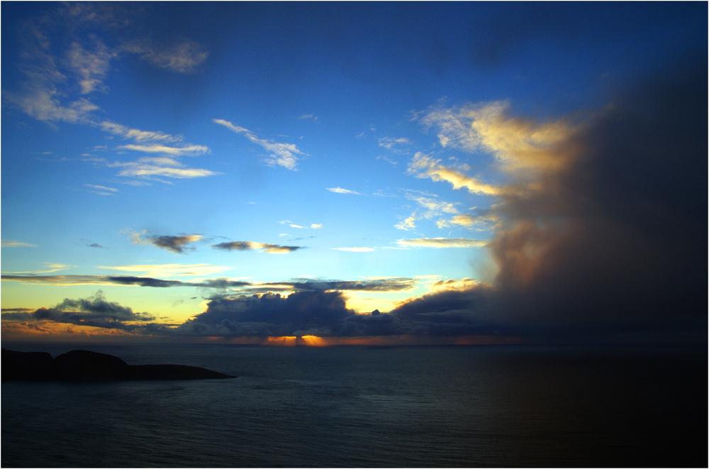 Regenwolke am Nordkap