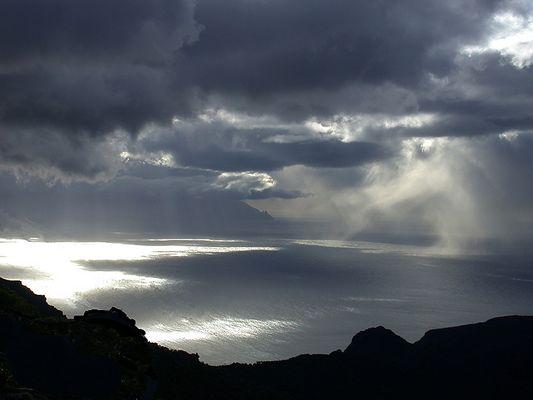 Regenwolken über La Gomera