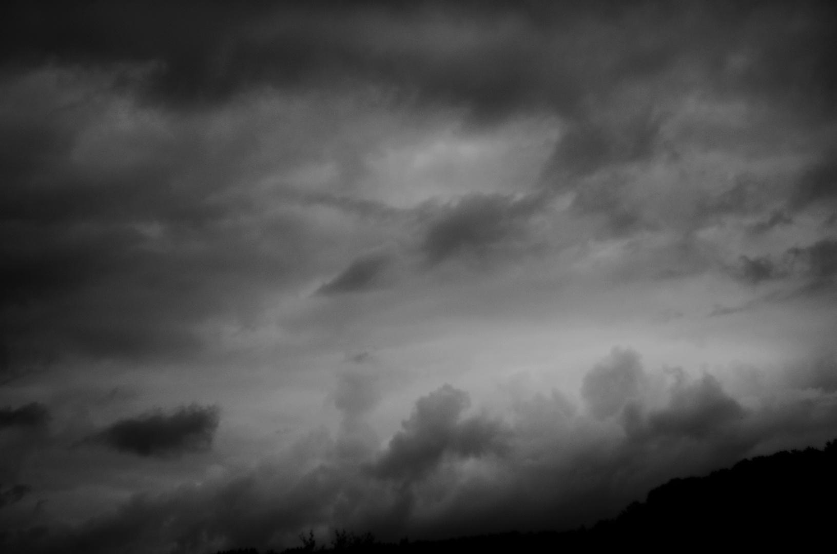 Regenwolkenprognose fürs Wochenende ...