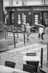 Regenwusch am Montmartre