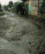 Regenzeit in einer Nicaraguanischen Stadt