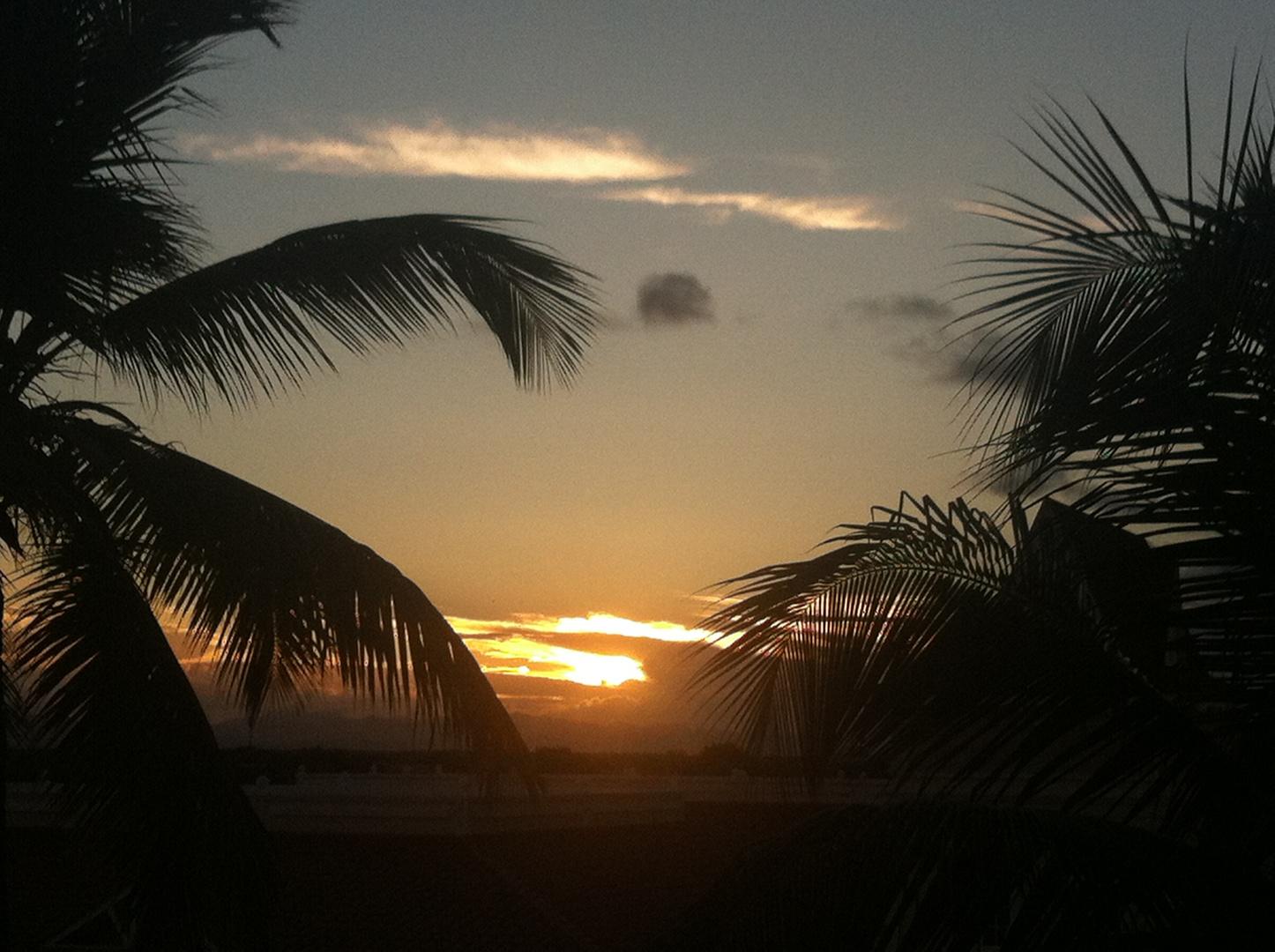 Regenzeit Sonnenuntergang Karibik