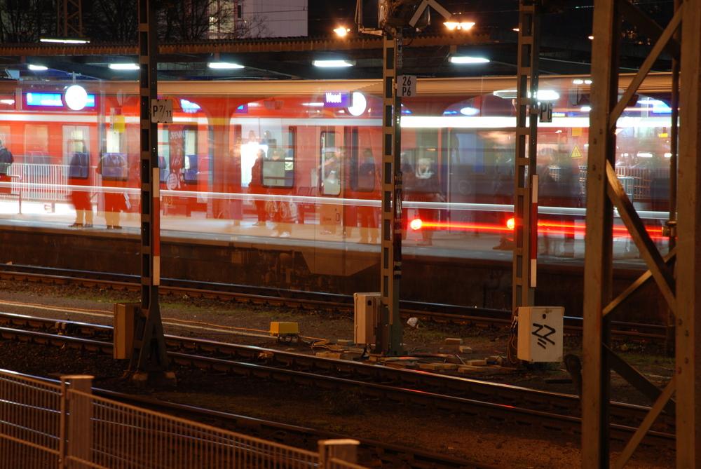 Regio-Bahn durchsichtig