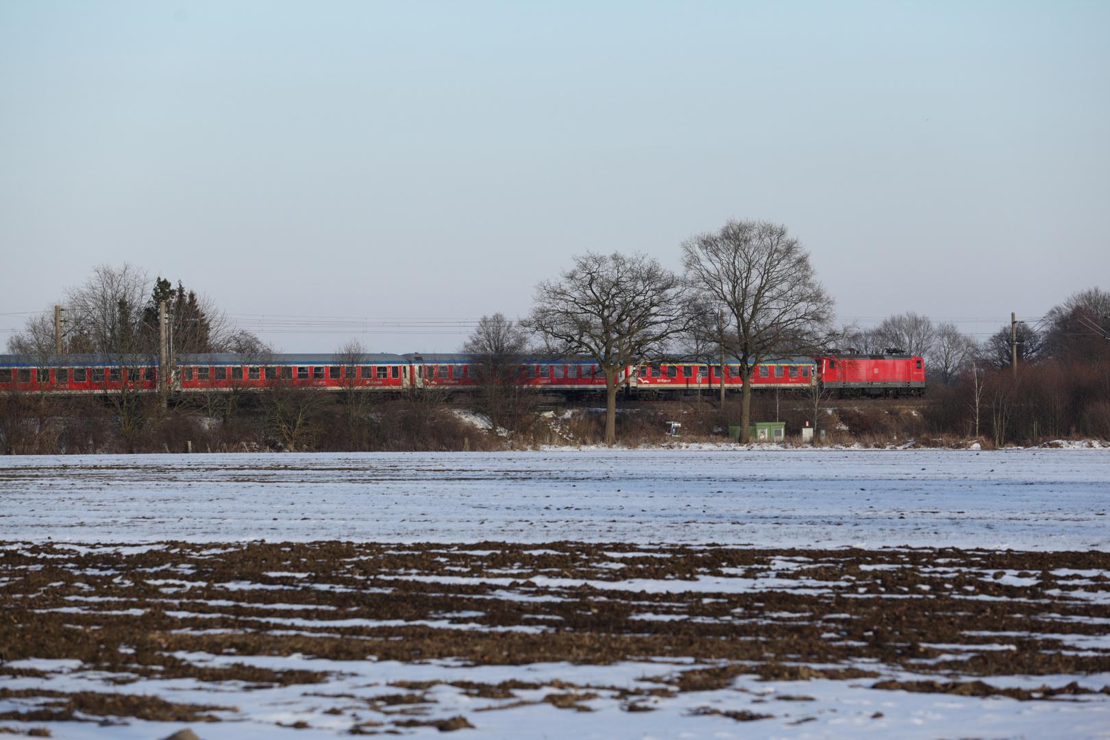 Regionalexpress Flensburg-Hamburg bei Krogaspe