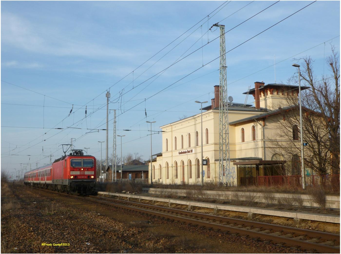 Regionalverkehr durch den Berliner Bahnhof in Großenhain