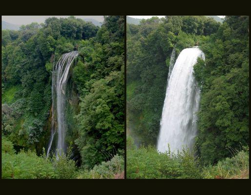 Regulierbarer Wasserfall