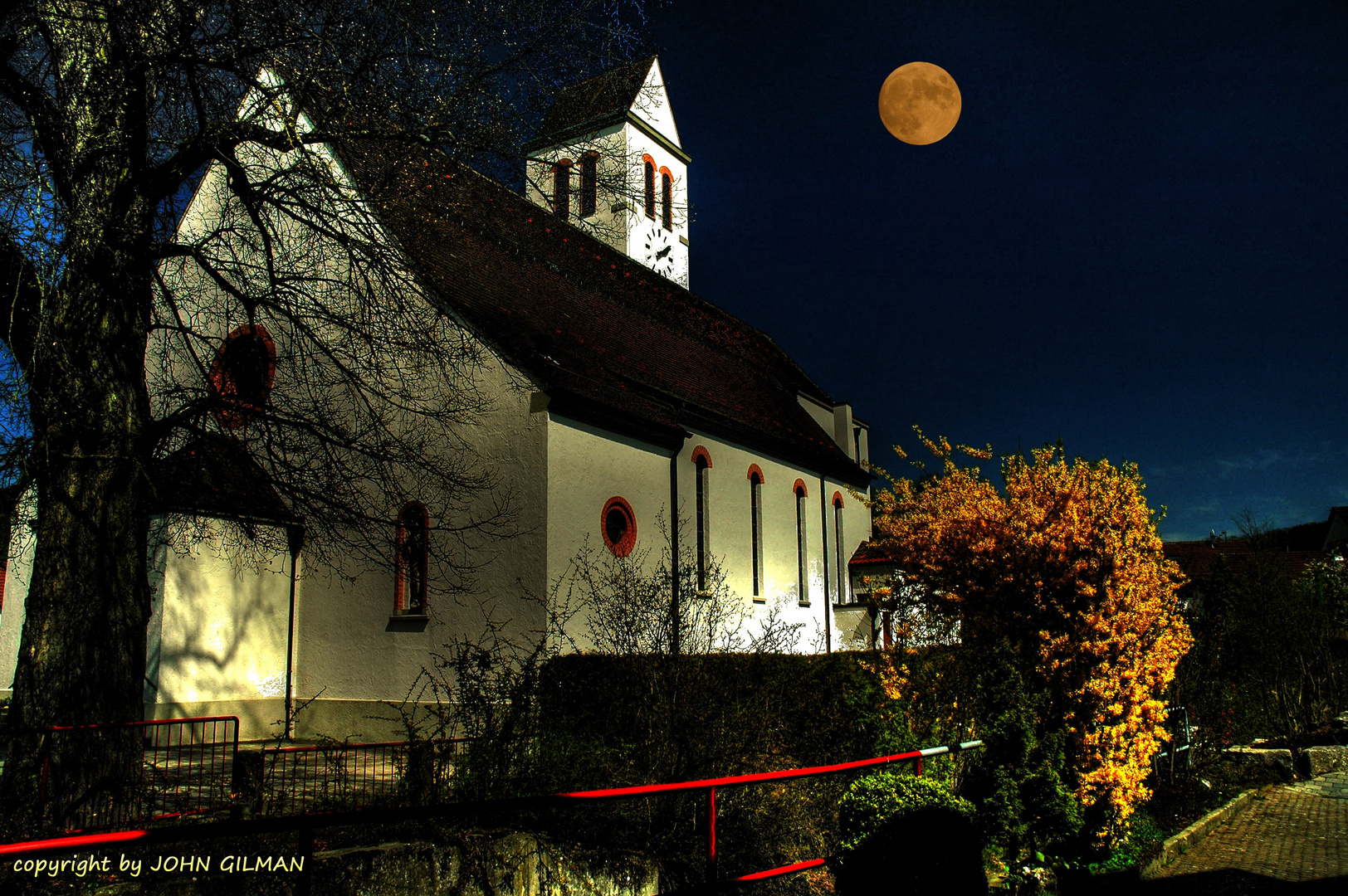 Reichenbacher Kirche bei Nacht