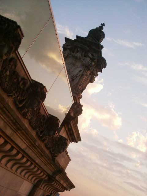 Reichstag bei Sonnenuntergang