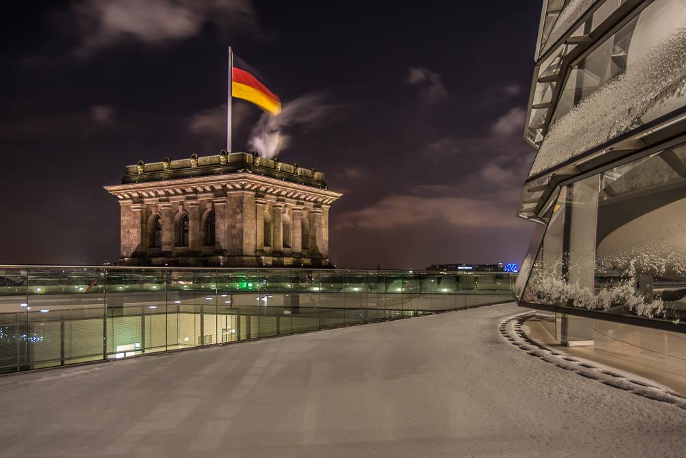 Reichstag im Winter