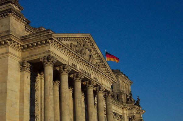 Reichstag in Blau